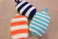 アクリル毛糸で編む「お風呂そうじスポンジ」作ります!