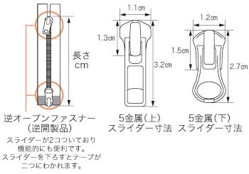 5金属逆オープンファスナーパース